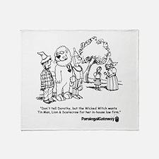 Paralegal In Oz Throw Blanket