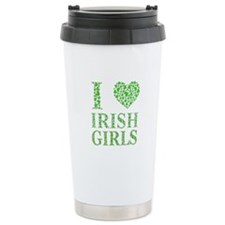 I Love Irish Girls Travel Mug