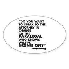 Paralegal In Charge [Text Bla Decal