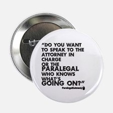 "Paralegal In Charge [Text Bla 2.25"" Button (1"
