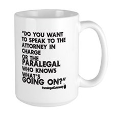 Paralegal In Charge [Text Bla Mug
