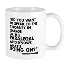 Paralegal In Charge [Text Bla Small Mug