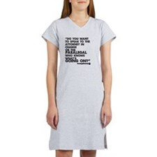 Paralegal In Charge [Text Bla Women's Nightshirt