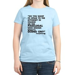 Paralegal In Charge [Text Bla T-Shirt