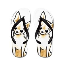 Cream Chi Sit Pretty Flip Flops