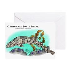 California Swell Shark Greeting Card