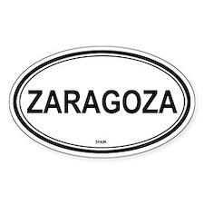 Zaragoza, Spain euro Oval Decal