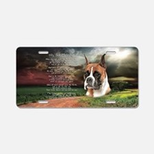 """""""Why God Made Dogs"""" Boxer Aluminum License Plate"""