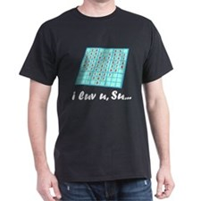 """Luv u, Su"" Black T-Shirt"