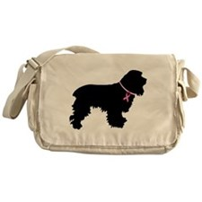 Cocker Spaniel Breast Cancer Support Messenger Bag
