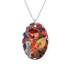 Mandolin /Bedlington Terrier Necklace Oval Charm