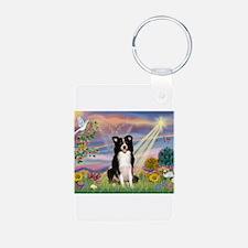 Cloud Angel /Border Collie Keychains