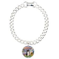 Cloud Angel /Border Collie Charm Bracelet, One Cha