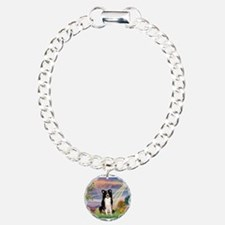 Cloud Angel /Border Collie Charm Bracelet, One Cha