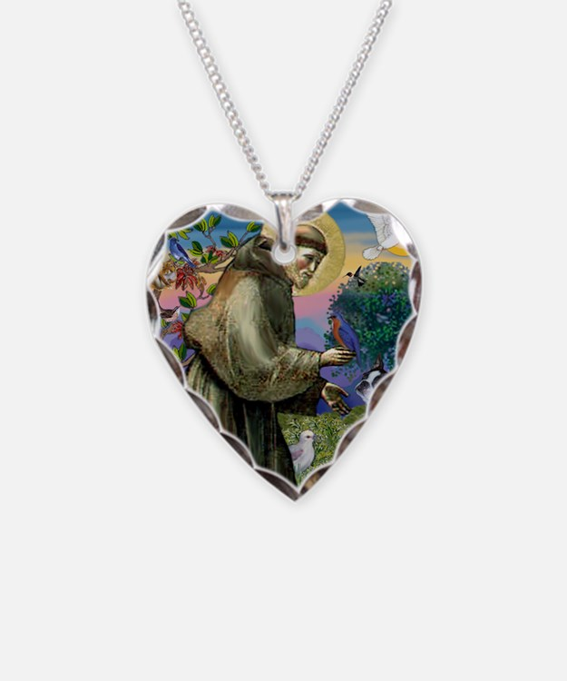 St Francis / Boston Terrier Necklace