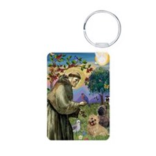 St Francis / Cairn Terrier Keychains