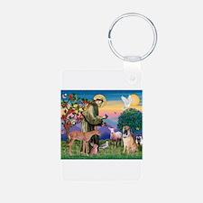 St Francis / Shar Pei (5) Keychains