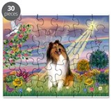Collies starry night Puzzles