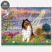 Cloud Angel & Collie Puzzle