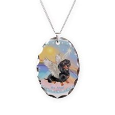 Clouds/Dachshund Angel Necklace