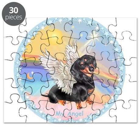 Clouds/Dachshund Angel Puzzle
