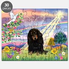 Cloud Angel /Dachshund Puzzle