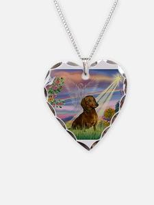 Cloud Angel /Dachshund (brn s Necklace