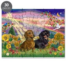 Autumn Angel / Dachshund pair Puzzle