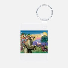 St Francis Doxie Keychains