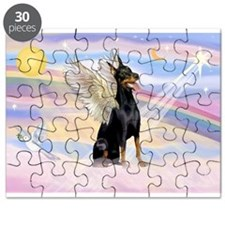 Dobie Angel in Clouds Puzzle