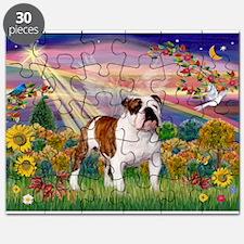 Autumn Angel /Bulldog Puzzle