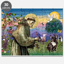 St Francis / Fr Bulldog (brin Puzzle