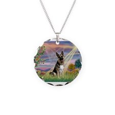 Cloud Angel /German Shepherd Necklace