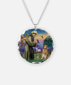 St Francis Golden Necklace