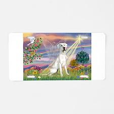 Cloud Angel /Gr Dane (w) Aluminum License Plate