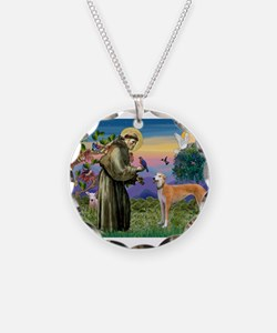 St Francis / Greyhound (f) Necklace