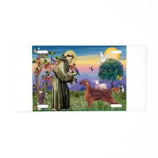 St Francis / Irish Setter Aluminum License Plate