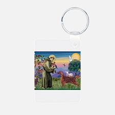 St Francis / Irish Setter Keychains