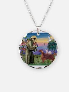 St Francis / Irish Setter Necklace