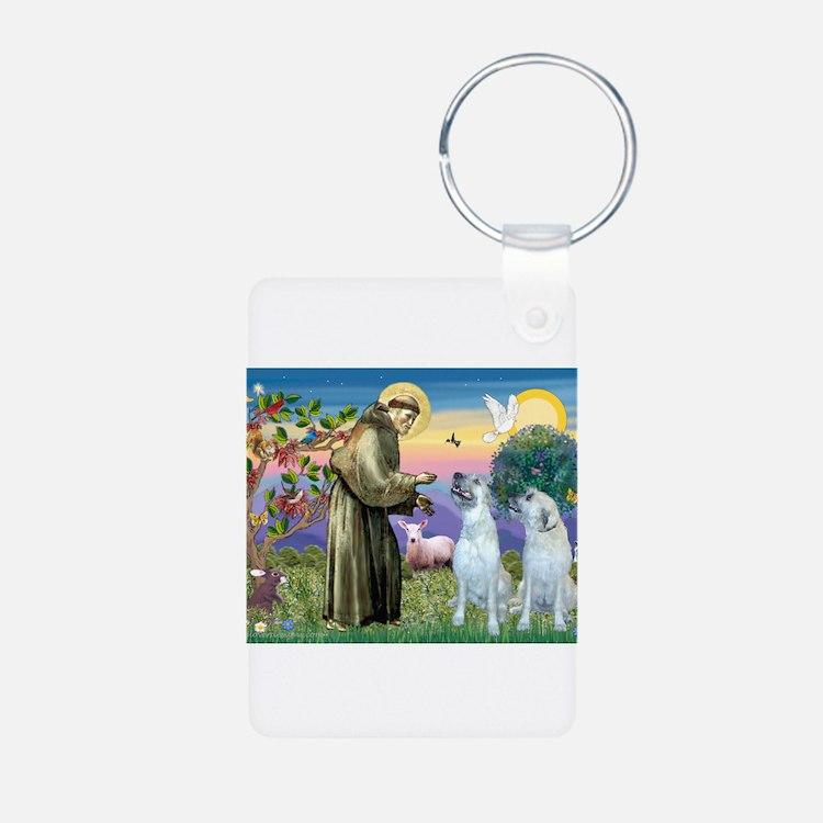 Saint Francis / Wolfhound(pr) Keychains