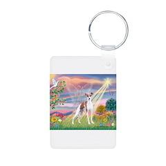 Cloud Angel / Italian Greyhou Keychains