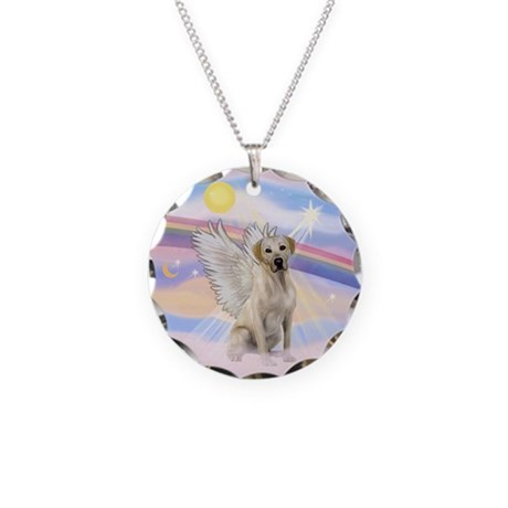 Angel Labrador Necklace Circle Charm