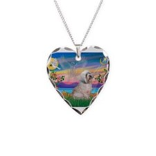 Guardian / Lhasa Apso Necklace Heart Charm