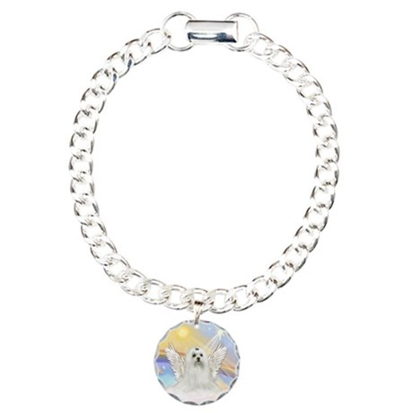 Maltese Angel (C) Charm Bracelet, One Charm