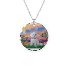 Guardian Angel / Maltese pup Necklace