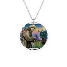 St. Francis & Min Pin Necklace