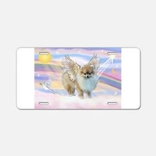 Pomeranian / Angl (s&w) Aluminum License Plate