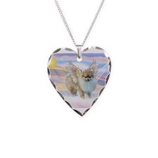 Pomeranian / Angl (s&w) Necklace