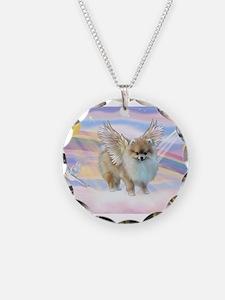 Pomeranian / Angl (s&w) Necklace