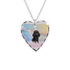 Angel/Poodle(blk Toy/Min) Necklace